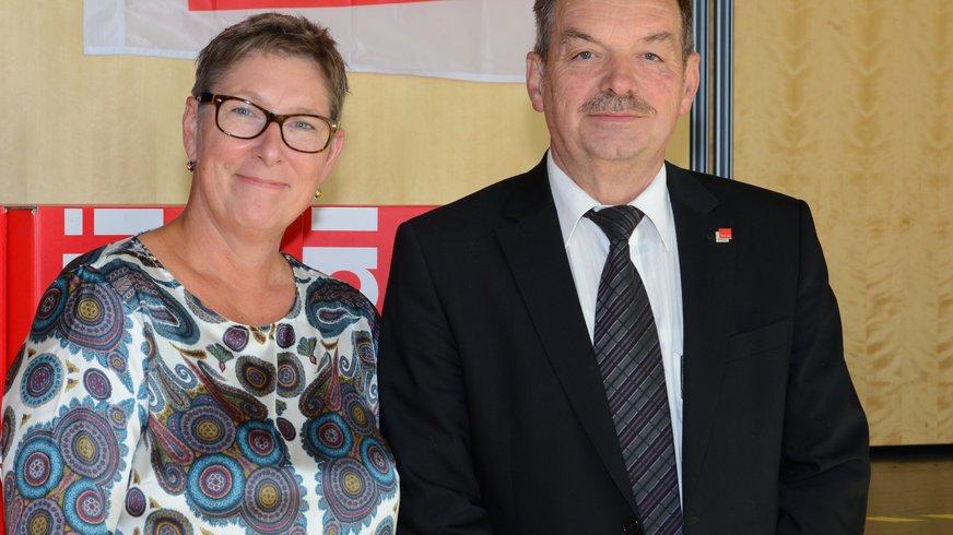 Die beiden neuen Vorsitzenden Harbouria und Hergenröder.